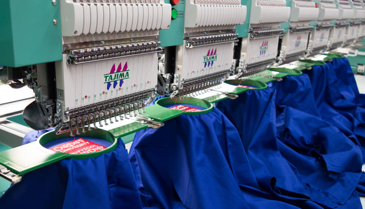 Print and Embroidery personalisation services for business workwear.