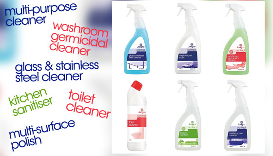 the Contract Range Starter Pack provides a discounted selection box of cleaning solutions