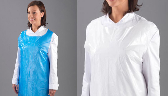 Disposable Aprons for a quick cover to avoid bodily spills contacting clothes