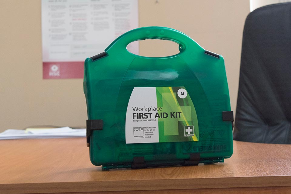 There is no mandatory list of contents for first-aid boxes. So what you decide to include should be based on an assessment of your first-aid needs for your workplace