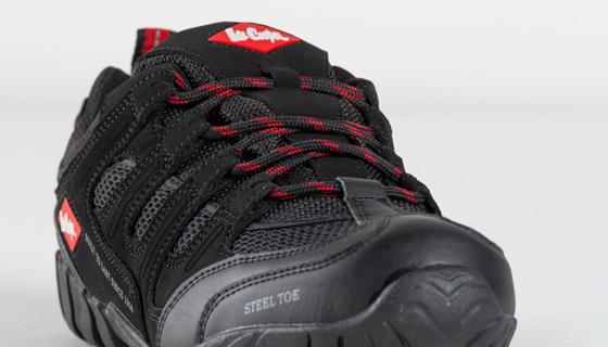 Lee Cooper S1P SRA Safety Trainer is a full grain leather waterproof safety hiker.