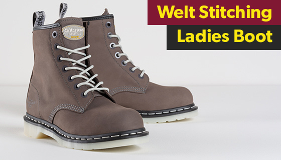 The Ladies Maple steel-toe work boot, designed especially for women in the workplace