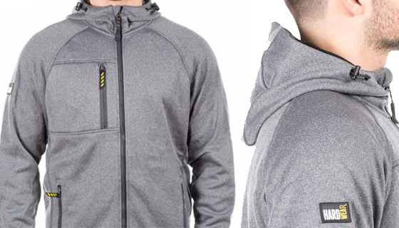 Marx Hoody Premium Softshell TRA687, durable hood, zipped pockets and weather resistant.