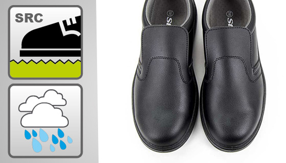 Avoid slipping on wet or oily surfaces with our safety salon shoes
