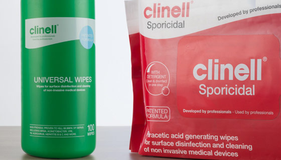Wipe away the days spills and splats with sanitising wipes