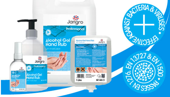 Quickly clean your hands with our sanitising and alcohol gels