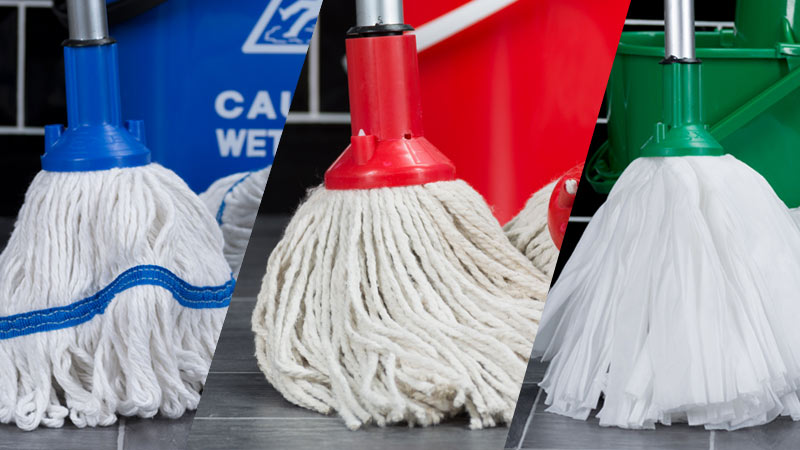 Socket Mops including: Exel PY Mop Heads, Exel Big White Mops and Exel Revolution Mop Heads.
