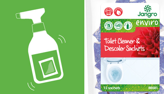 BB581 scented sulphamic acid based toilet cleaner and descaler with thixotropic properties that rapidly removes limescale