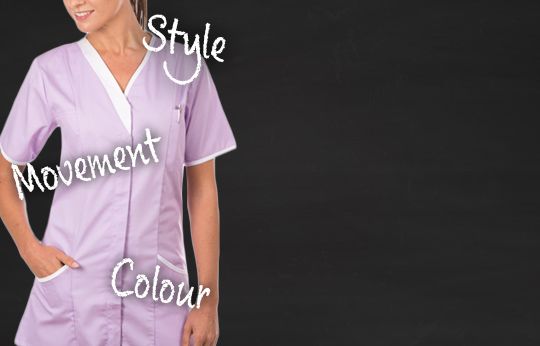 A salon tunic or tabard represents your brand