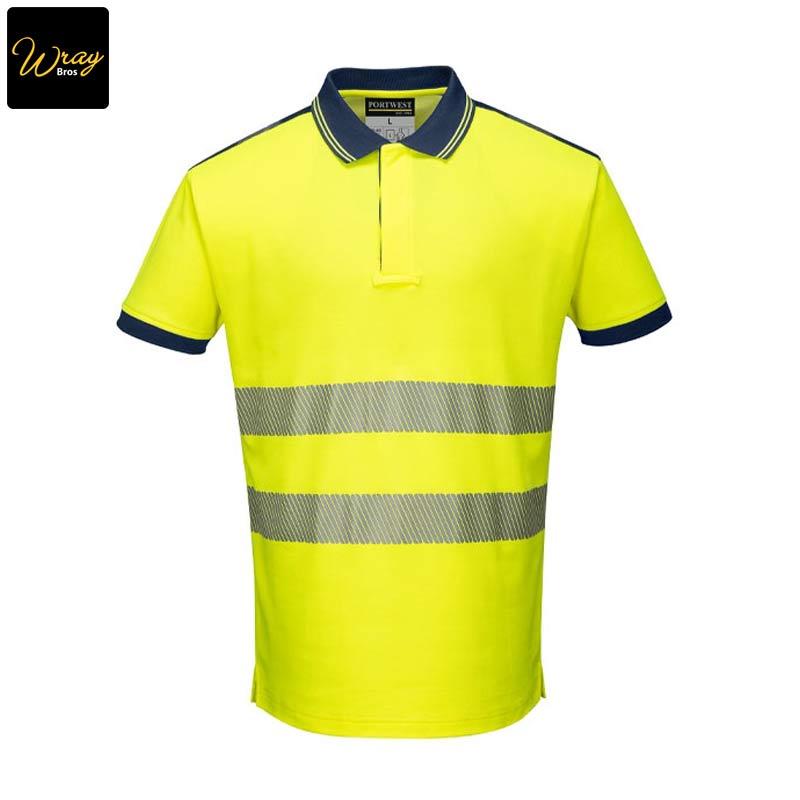 Hi-Vis Short Sleeved Polo Shirt