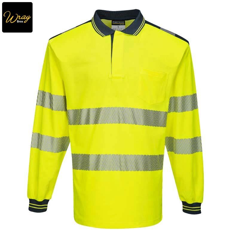 Hi-Vis Long Sleeved Polo Shirt