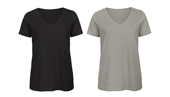 Women's V-Neck 100% organic cotton t-shirt from the brand B&C
