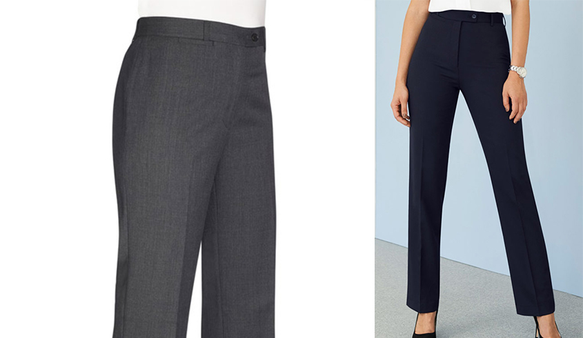 Brook Taverner Grosvenor Trousers with straight leg with single button fastening and belt loops.