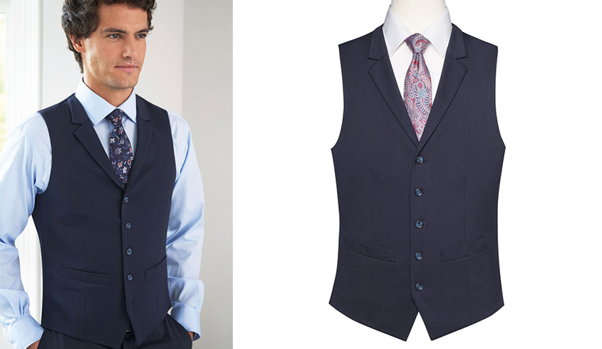 Brook Taverner Proteus Waistcoat with 5 button front and 2 welt pockets