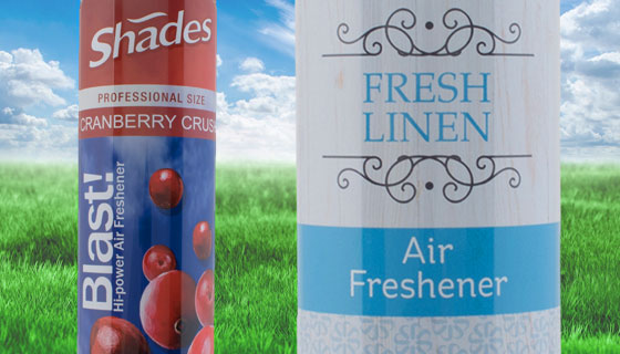 professional air fresheners in gel and aerosols