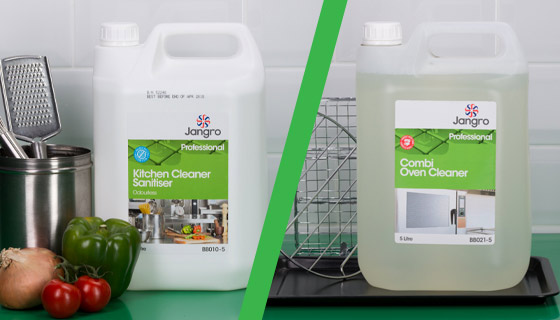 Wholesale kitchen cleaning chemicals that degrease and sanitise surfaces