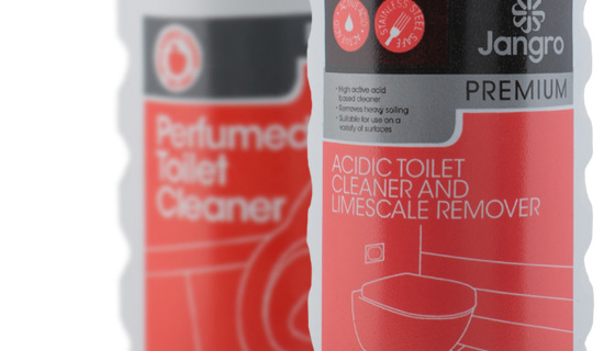 commercial washroom chemicals to remove scum, limescale and grime
