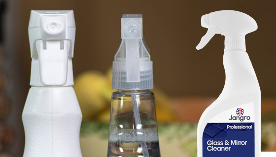 Jangro chemical spray bottles are fully recyclable