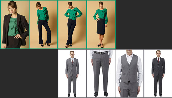 Information on achieving the desired appearance with your corporate office workwear
