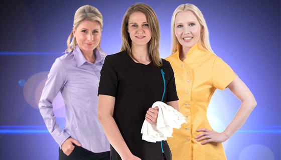 Our range of women's workwear including unisex clothing