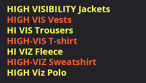 High visibility work clothing in all saheps and sizes for Merseyside businesses