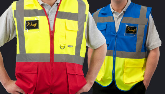 2 band high vis vests and executive vests from wray bros merseyside
