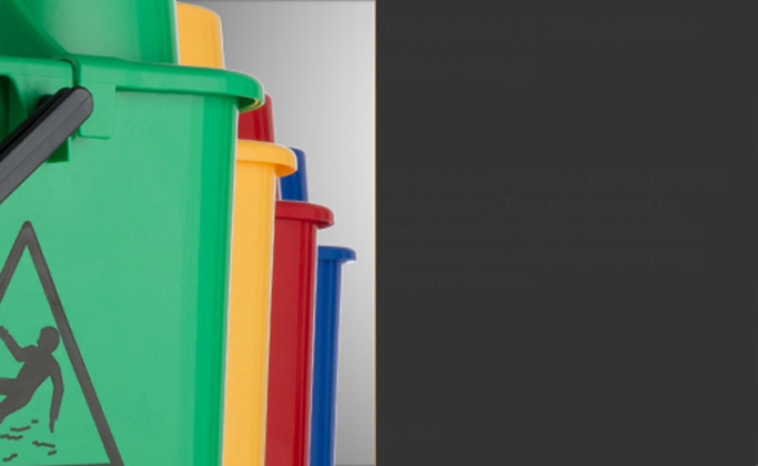janitorial colour coded supplies from Wray Bros liverpool