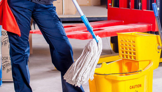 How to clean floors using a single mop bucket