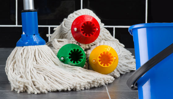 wholesale colour coded mopping products including exel mop heads