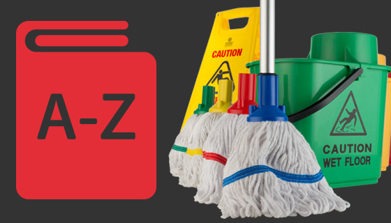 A full list of commercial janitorial and cleaning products used by professionals