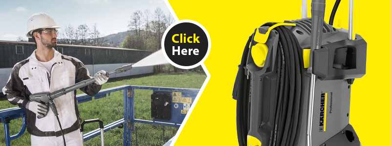 Karcher High Pressure Cleaner HD 6/13 C Plus comes with nozzles, hose and lance
