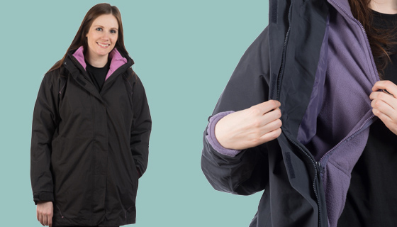 Fitted ladies work jackets offer freedom of movement and weather protection
