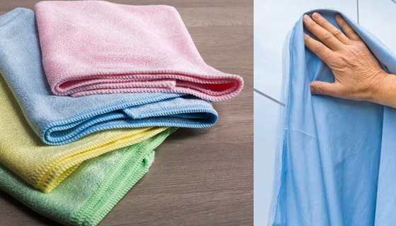 Microfibre Cloths v Traditional Cleaning Cloths for school, hospital, clinic and nursing homes