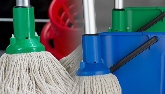 Step by step guide to double solution mopping workplace floors