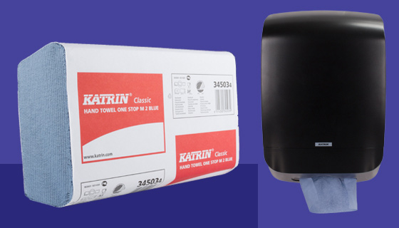 wholesale hand towel supplies and dispensers from Katrin and Tork