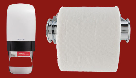 Jangro, Katrin and Tork toilet rolls and dispenser range