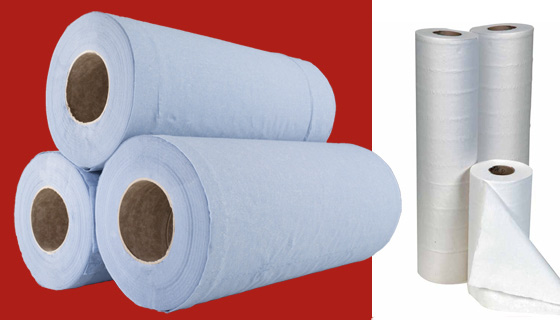 examination couch rolls or hygiene roll range