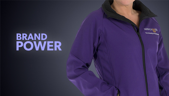 University of Manchester embroidered uniform jacket in purple
