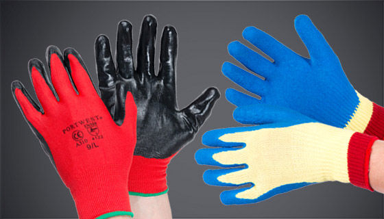 Protective gloves offer hand protection against impact, chemicals and cuts