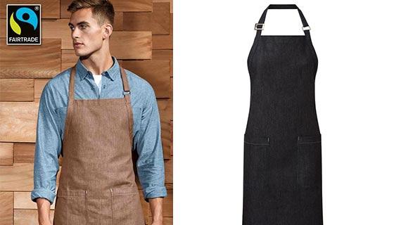 Premier PR113 Organic Cotton bib apron.