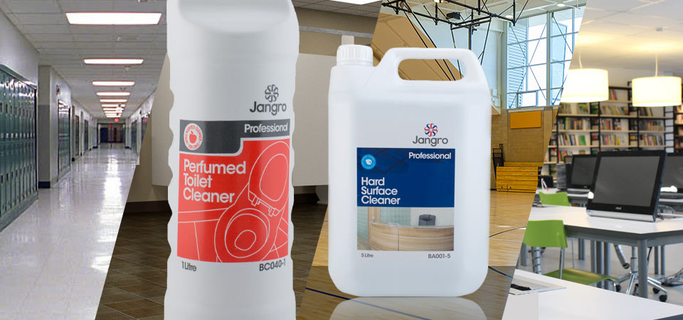 Choosing cleaning supplies should consider all areas within educational premises