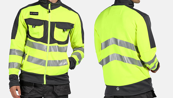 Regatta Tactical Hi Vis Extol Jacket with full centre zip and lower zipped pockets. Available in yellow and orange.