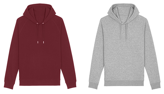 Stanley/Stella Unisex Pocket Hoodie with organic cotton and recycled polyester.