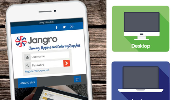 Jangro Learning Management System is easy to use and benefits your staff