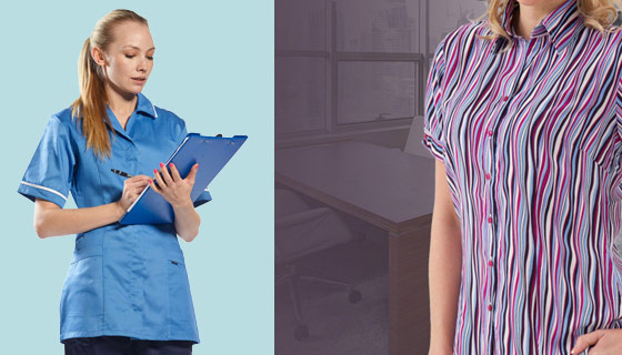 Women's and Female workwear as well as unisex garments