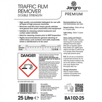 Jangro Traffic Film Remover 25L Double Strength