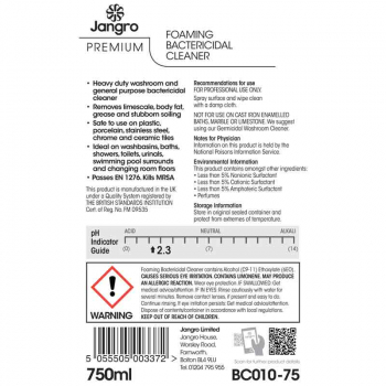 BC010 Foaming Bactericidal Cleaner La