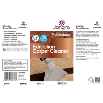 Extraction Carpet Cleaner Label
