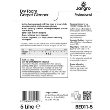 Jangro Product Label