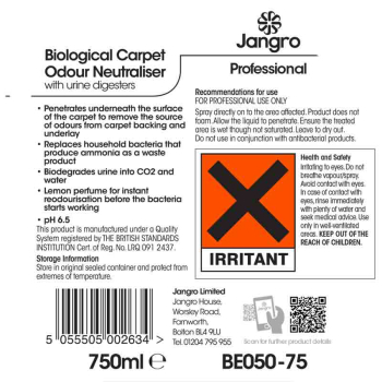 BE050 - Bio Carpet Odour Neutraliser